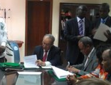 Kenya Signs MOU with the African Union to integrate into the African Union Mission to Somalia (AMISOM)
