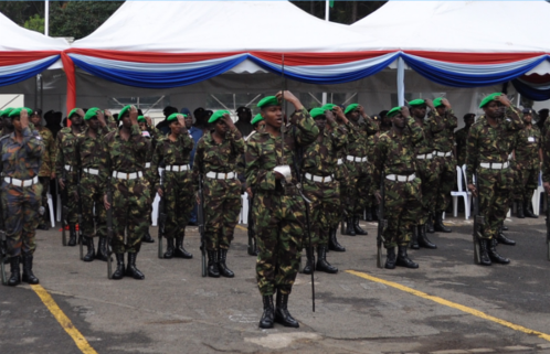 Kenya Troops Re-hat into AMISOM, Nairobi.