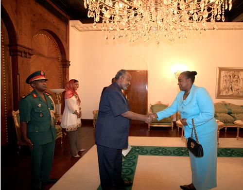 Amb. Juma presents credentials to Djibouti