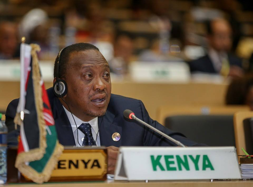 President Kenyatta at the AU Summit