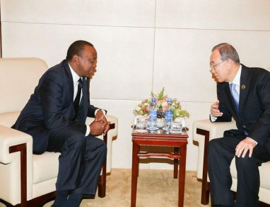 UN chief thanks Uhuru Kenyatta for Kenya's 'hospitality' toward refugees