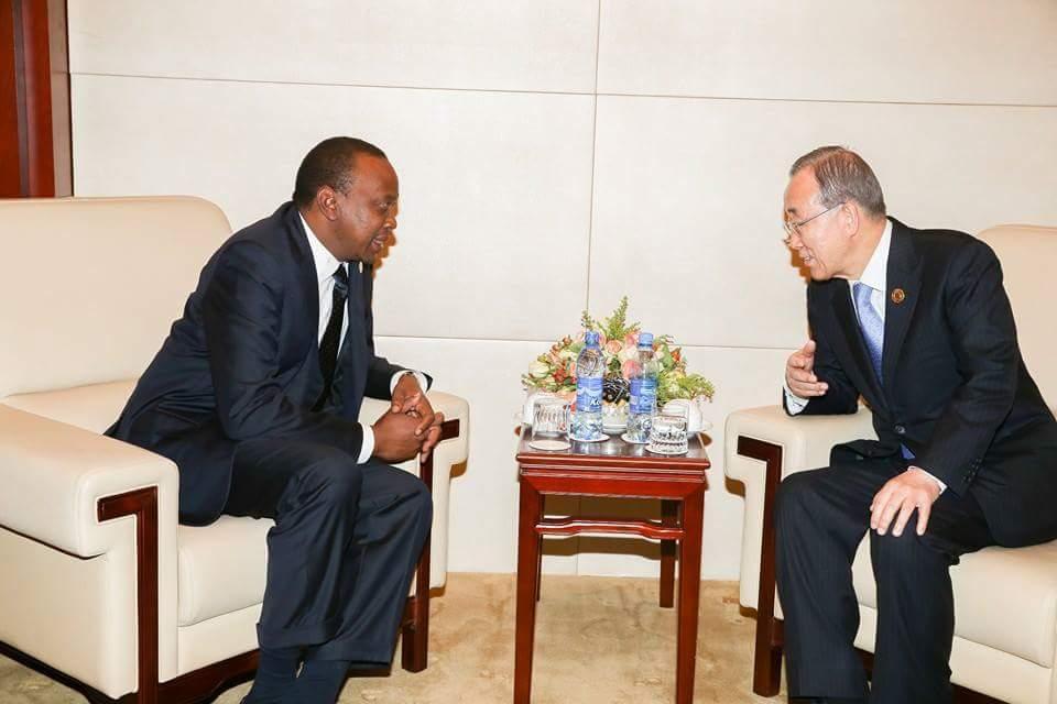 UN chief thanks Uhuru Kenyatta for Kenya's 'hospitality' toward refugees