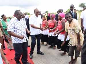 President Uhuru Kenyatta arrives at the Ambassadors Conference in Kwale
