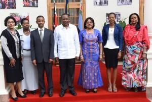 AUPSC Team with President Kenyatta