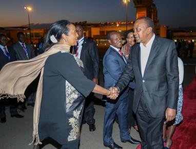 President Kenyatta returns to Kenya after a successful AU Summit