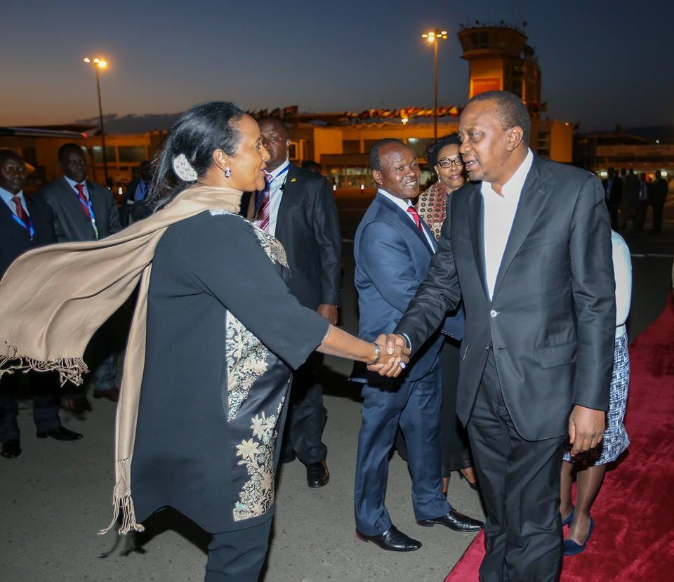 President Kenyatta returns to Kenya after a successful AU Summit