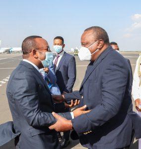 President Uhuru Kenyatta arrives in Addis Ababa for Official Visit